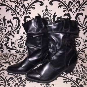 Decree black high heel boots women's size 10